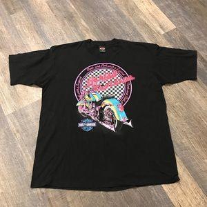 Harley Davidson rock n roll vintage shirt